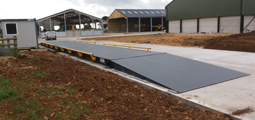 surface mounted 18m x 3.2m Eurodeck Weighbridge
