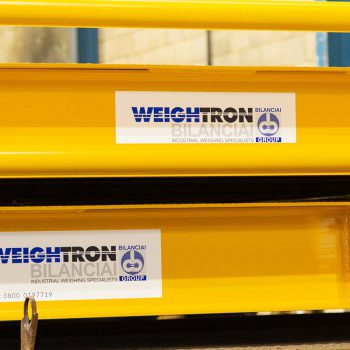 Weightron logo on side of weighbridges