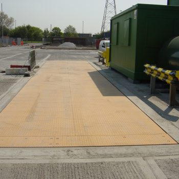 Pit mounted weighbridges fully installed