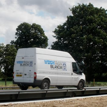 Weighbridge Maintenance & Servicing Weightron Van testing weighbridge