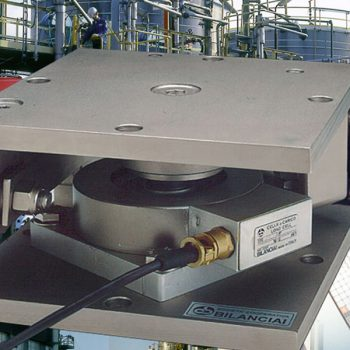 Industrial load cells in operation