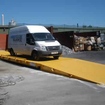Surface Mounted Eurodeck Weighbridge - Weightron Van testing
