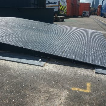 Heavy duty weighbridge installed