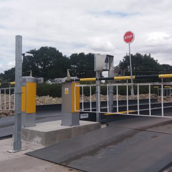Heavy duty weighbridge installed on site