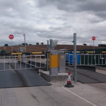 Heavy duty weighbridges in place at traffic control systems