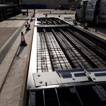 Pit Mounted Eurodeck Concrete Weighbridge - installation in process