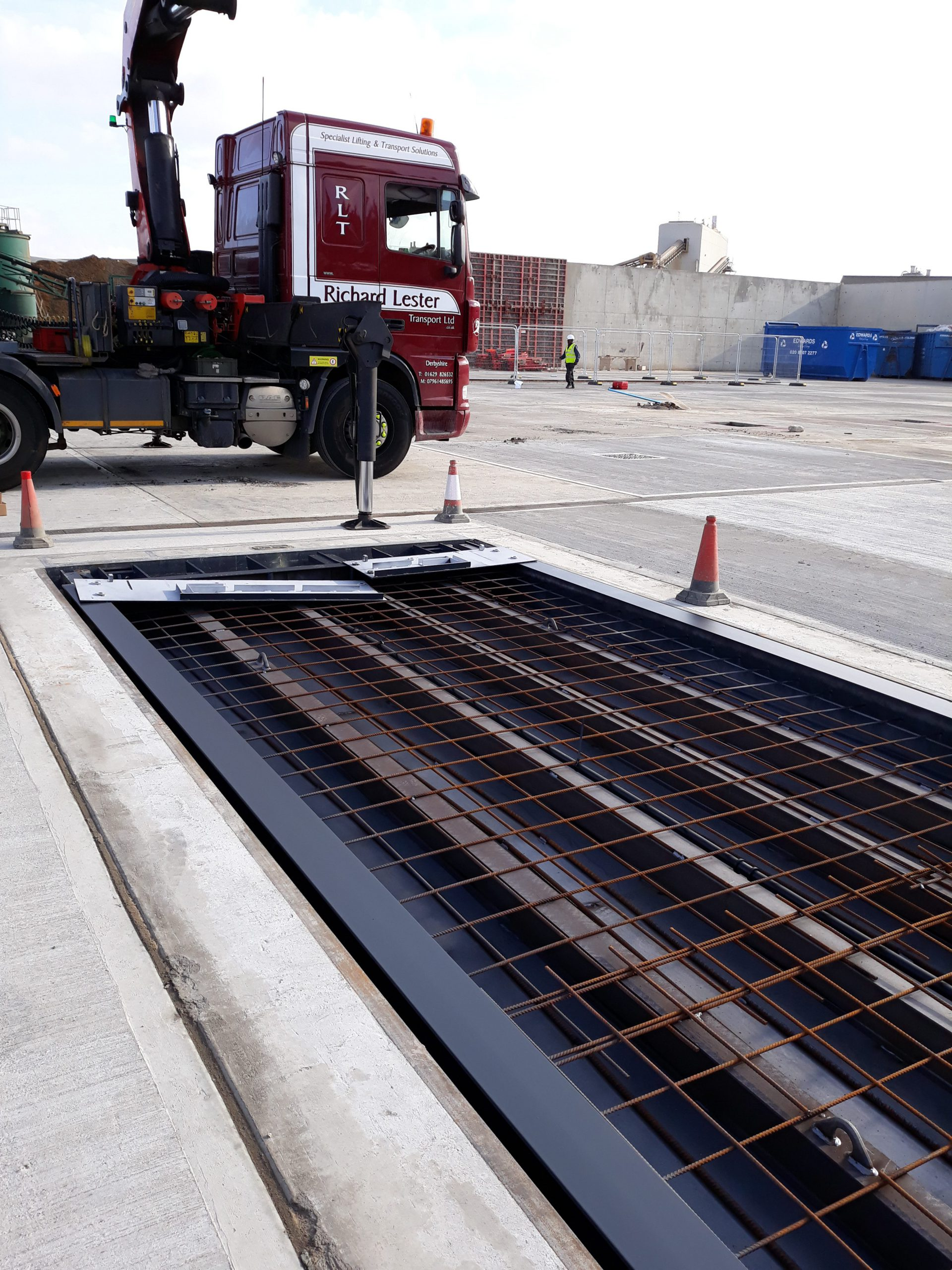 Pit Mounted Eurodeck Concrete Weighbridge - installation process