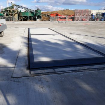 Pit Mounted Eurodeck Concrete Weighbridge - finished installation