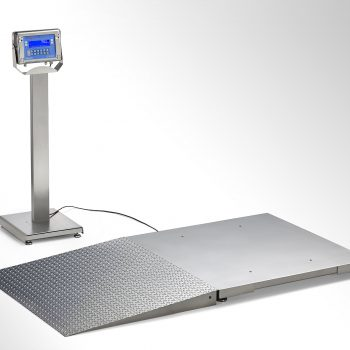 PRM Floor Scale with stainless steel ramp