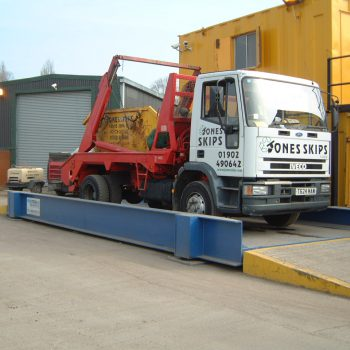 heavy duty weighbridge being used for skips