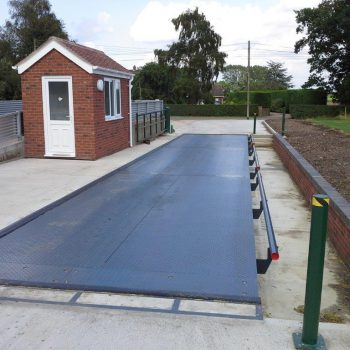Pit Mounted Eurodeck SB Weighbridge installed with barrier