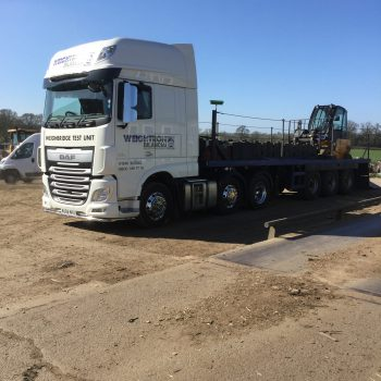 Weighbridge Maintenance & Servicing - arrival of testing truck