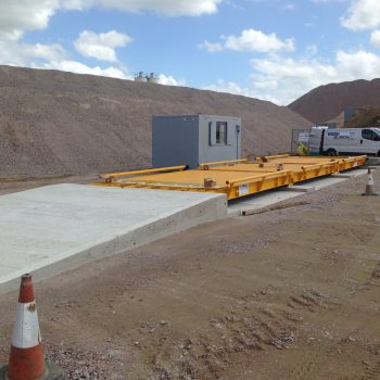 Surface Mounted Eurodeck Concrete Weighbridge installed