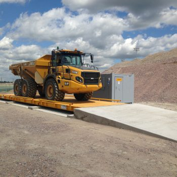 Surface Mounted Weighbridges with large vehicle