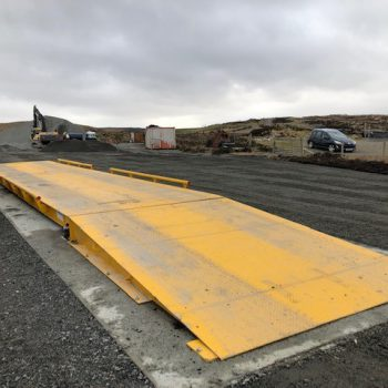 surface mounted Eurodeck weighbridge on site