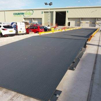 Surface Mounted Eurodeck SB Weighbridge - recycling installation