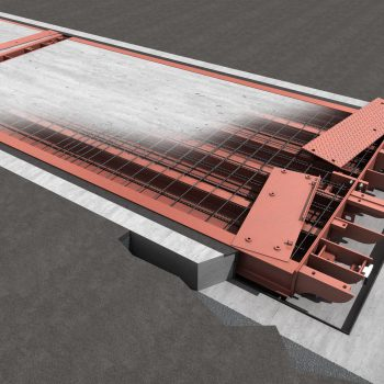 Pit Mounted Eurodeck SB Weighbridge - design showing components