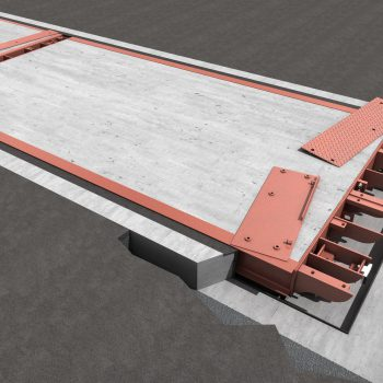 Pit Mounted Eurodeck SB Weighbridge - design showing mechanics