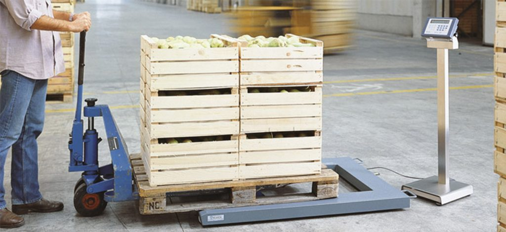 BPU Pallet Scale in use