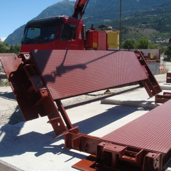 Small portable weighbridges installed