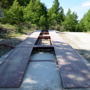 Portable weighbridges installed