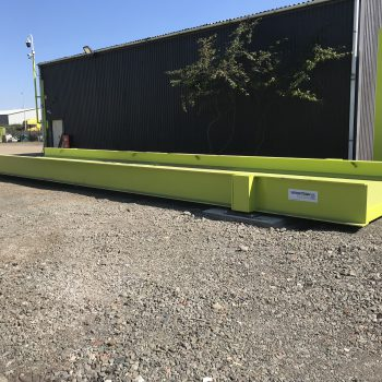 Bright green heavy duty weighbridge