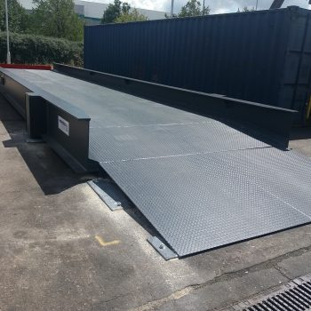 Blue heavy duty titan weighbridge