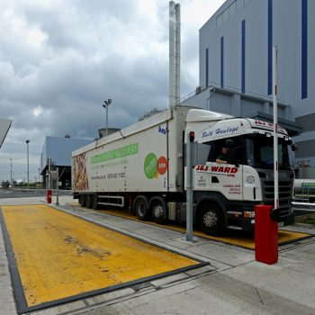 weighbridge automation - driver operated terminal & traffic barriers in operation
