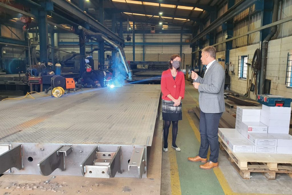 Redundancy Deadline: MP and Shadow Chancellor of the Exchequer, Anneliese Dodds, visits Weightron Bilanciai Ltd.